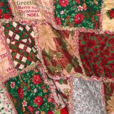 photo of Christmas Rag Quilt Without Batting