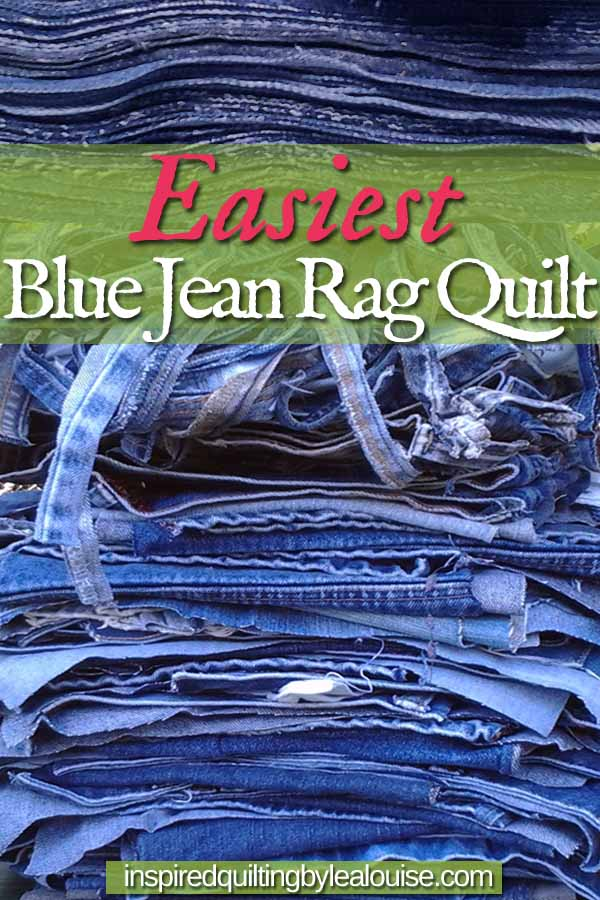 image of pin Easiest Blue Jean Rag Quilt