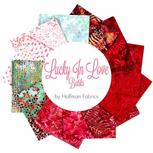image of 'Lucky in Love' fabric collection