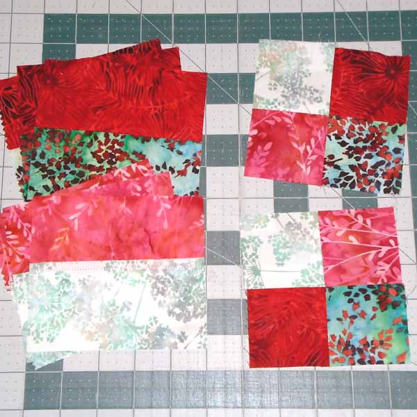 Image of Super Simple 4-Patch Quilt Tutorial  block assembly