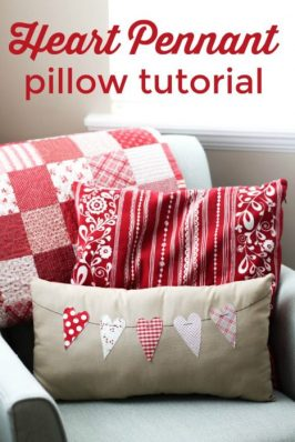 image of Valentine Throw Pillow Tutorial