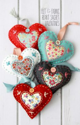 image of DIY Fabric Hearts for Valentine's Day