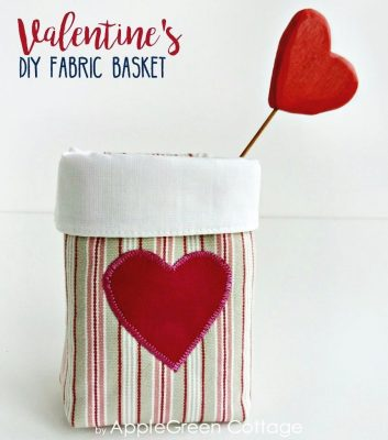 image of Diy Valentine Basket