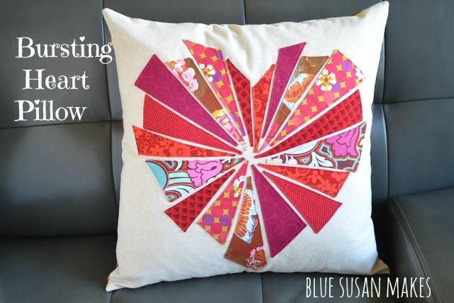 """image of """"Bursting"""" Heart Pillow"""