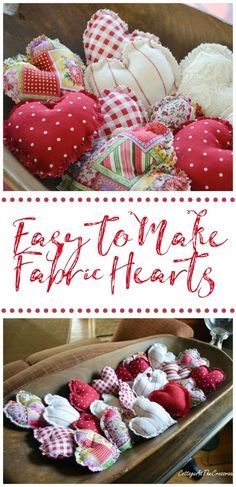 image of Easy to Make Fabric Hearts