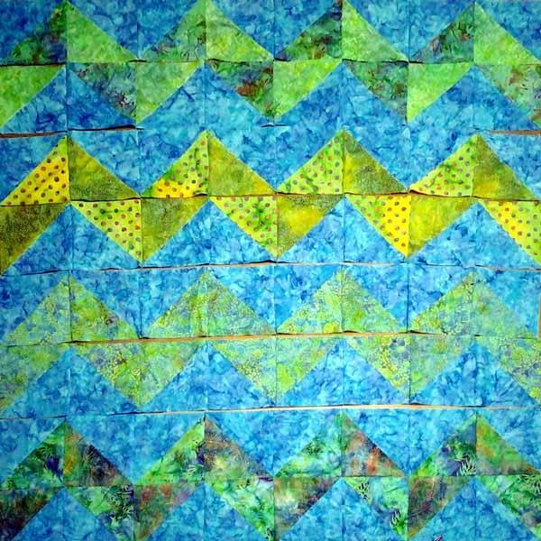 image of batiik fat qtr hst chevron quilt modern