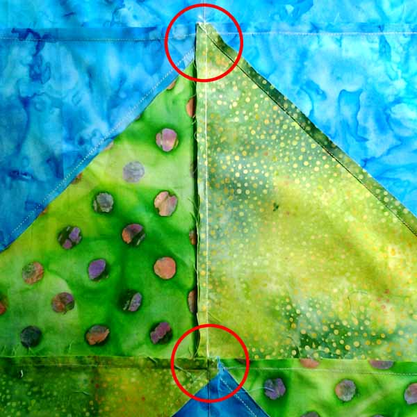image of how to nest seam sewing perfect hst points tutorial
