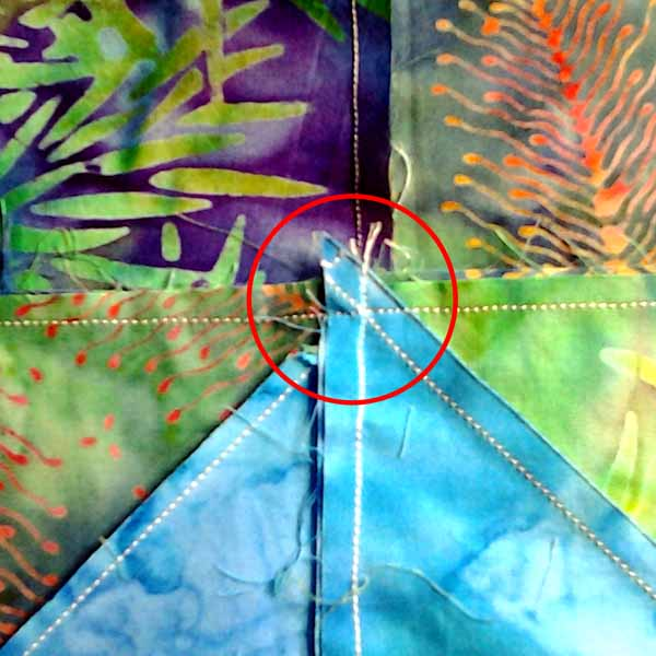 image of how to nest seams sewing perfect hst points tutorial