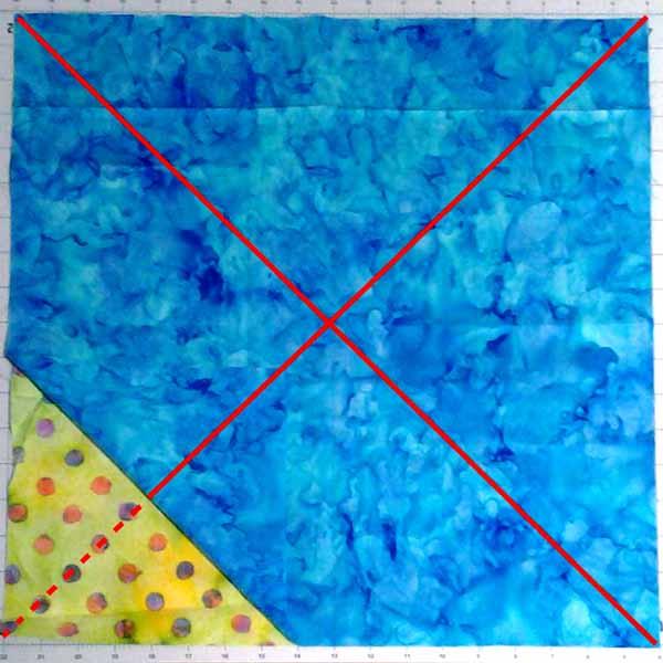 image of Batik FQ & Precut Magic 8 Half Square Triangle Sewing Diagram