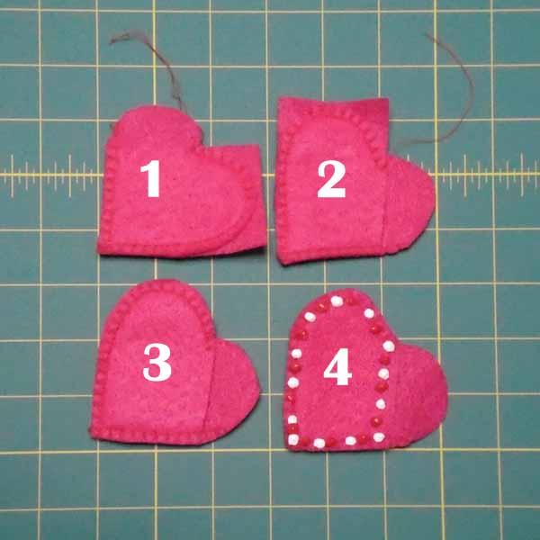 image of Felt Valentine Pocket Tutorial