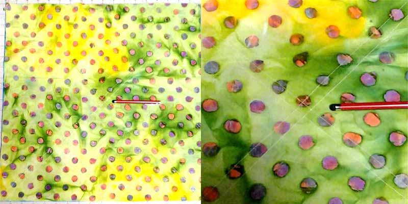 image of Batik Fat Quarter Quilt Chevron Half Square Triangle Sewing Diagram