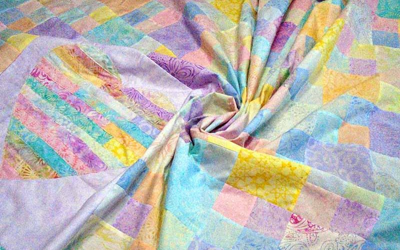 image of Batik Heart Strings Quilt