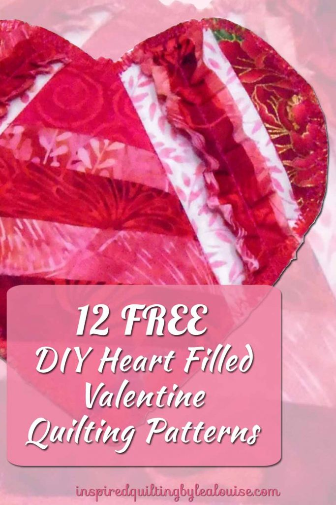 image of Valentine mug rug free pattern