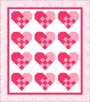 image of Valentine Quilt Block