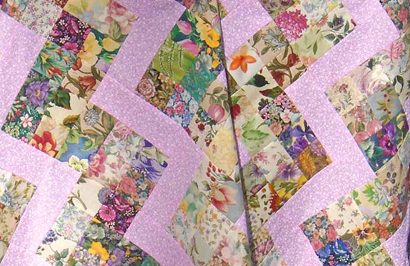 Image of Patchwork rail fence quilt