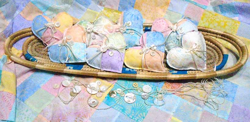 Easy to Make Quilted Fabric Hearts