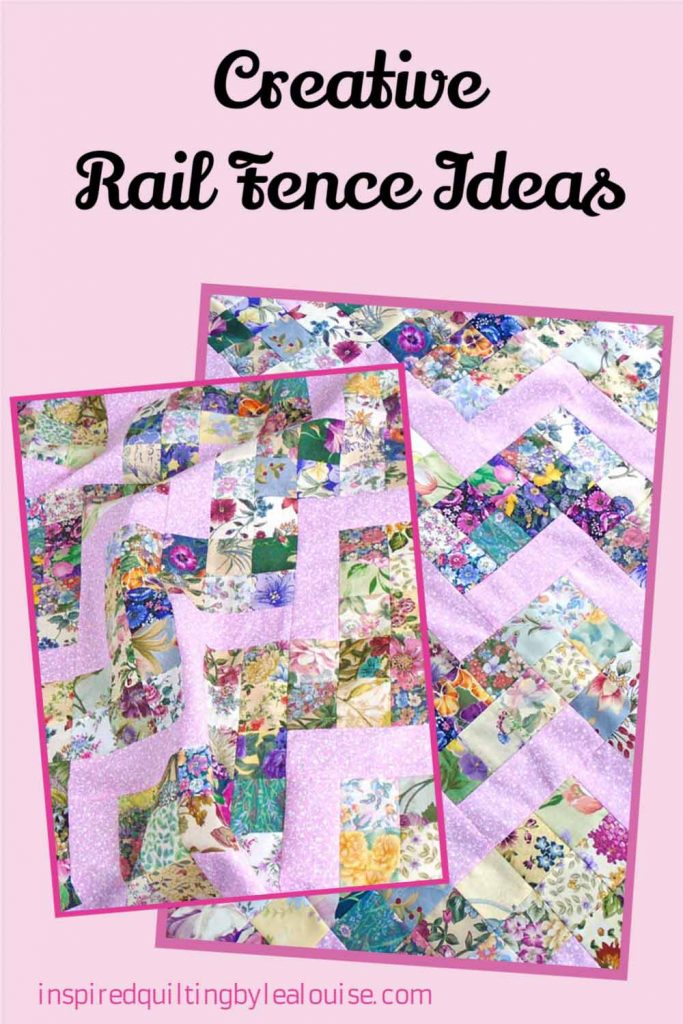 image of patchwork rail fence baby quilt