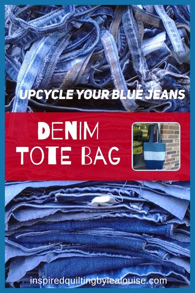 image of diy denim tote bag