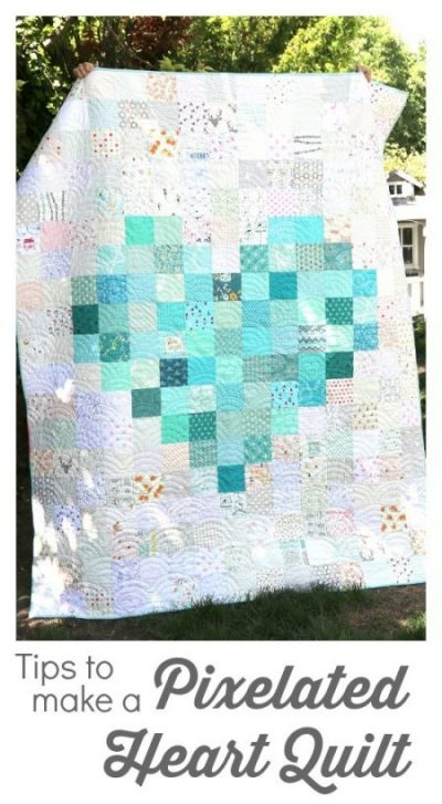 image of Pixelated-Heart-Quilt