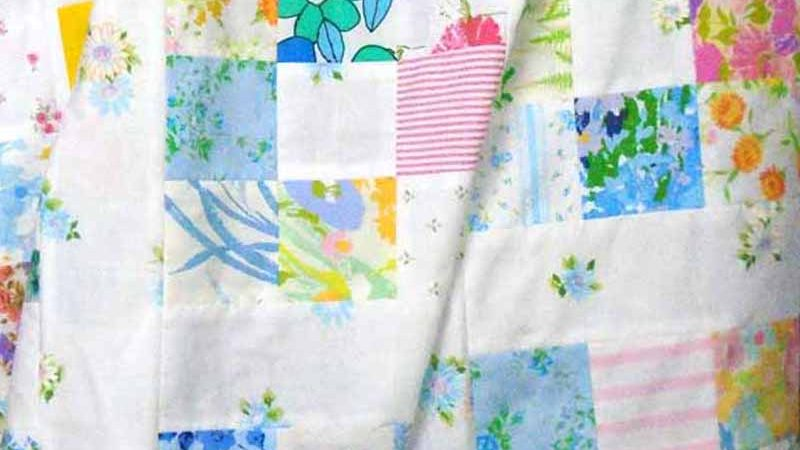 Easy Patchwork Quilt from Vintage Sheets