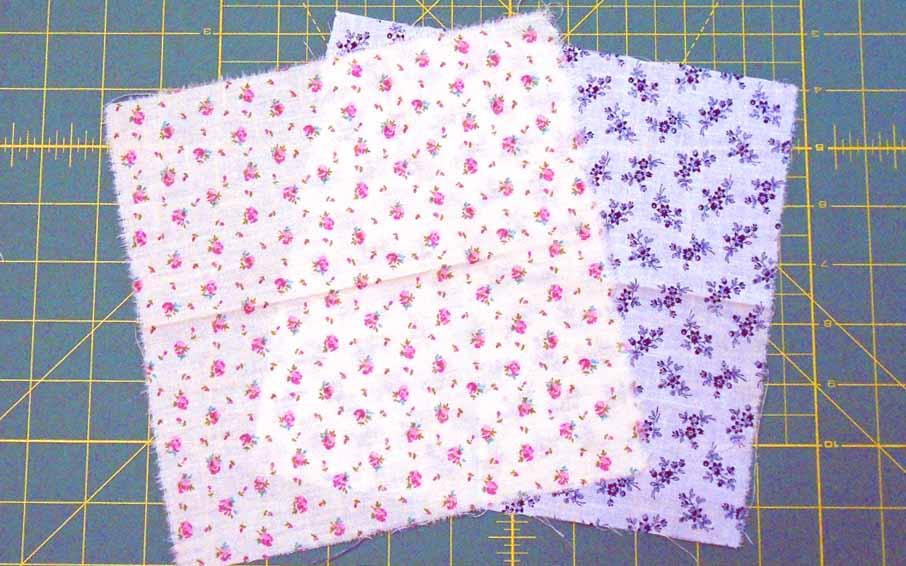image of rag quilt blocks