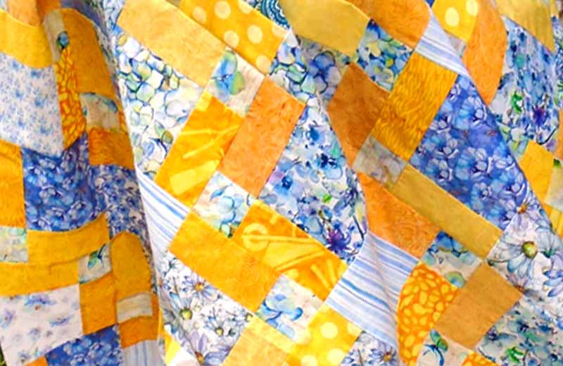 image of Floral Charm Square Quilt