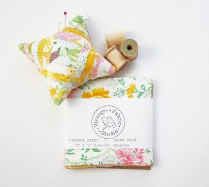 image of Vintage Fabric Charm Squares