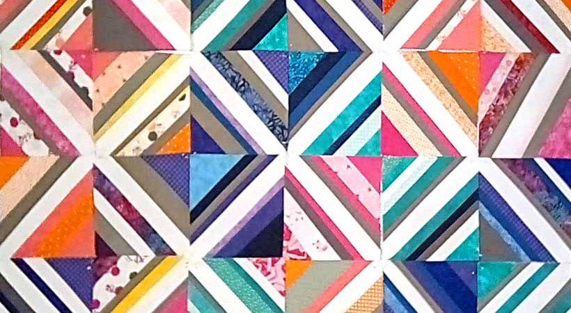 Easy Scrap Quilt As You Go Paper Foundation Tutorial