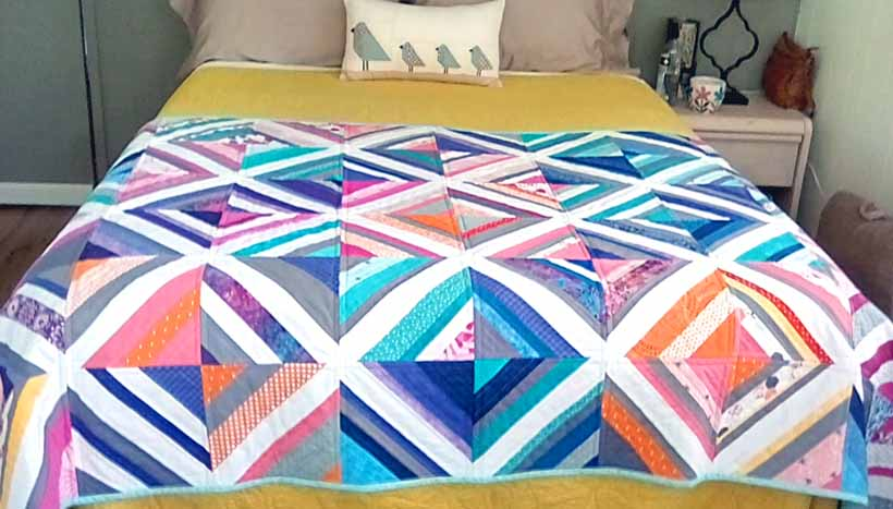 image of a quilt as you go Bed Runner