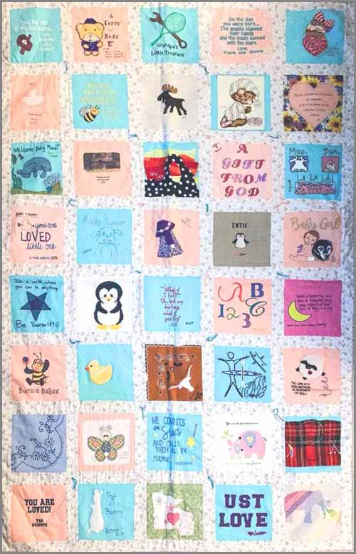 image of a baby memory quilt