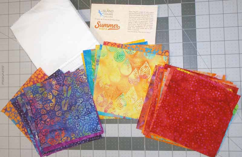image of Easy Batik Charm Square Baby Quilt_Batik Charm Square Brick Path Baby Quilts