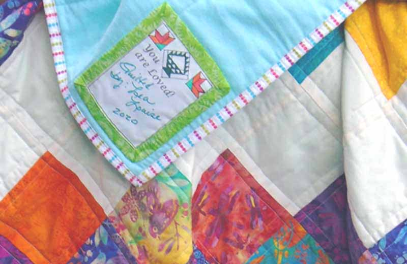 image how to label your quilt