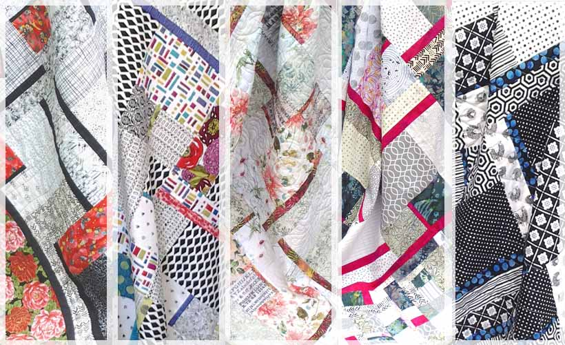 image of modern fat quarter quilting with batiks