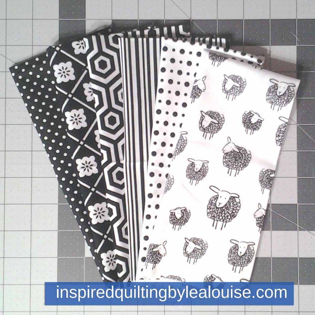 image of Modern Batik Fat Quarter baby Quilt fabric selection