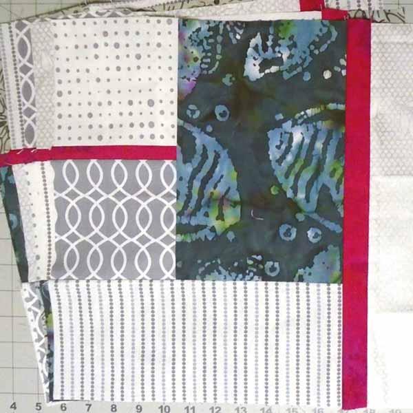 image for Batik Fat Quarter Block for On Point Quilt