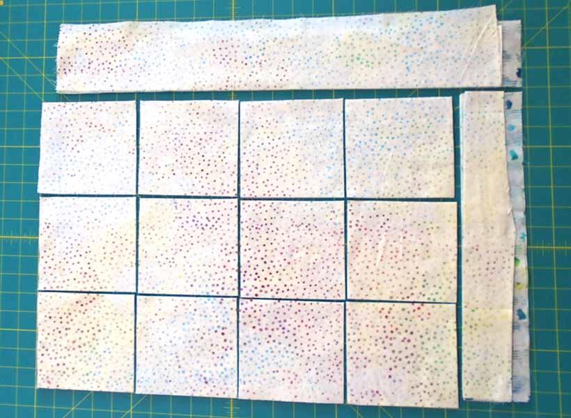 image how to cut low volume batik fabric charm squares