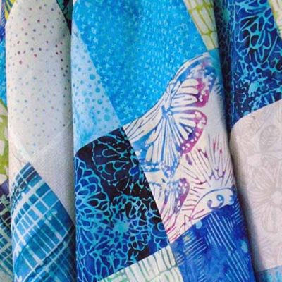 How to Quilt with Batik Charm Squares