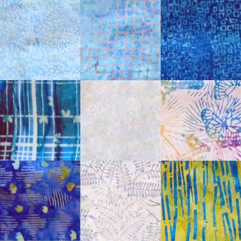 image of Batik 9-Patch Quilt Block