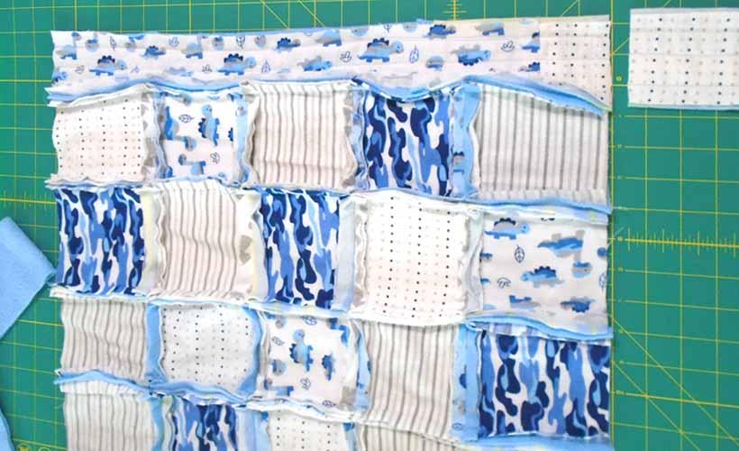 image of Upcycled Receiving Blanket Kindergarten Nap Mat Quilt