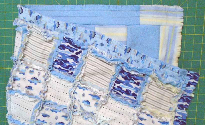 image of How to Make a Flannel Receiving Blanket Nap-Time Quilt Pattern Free