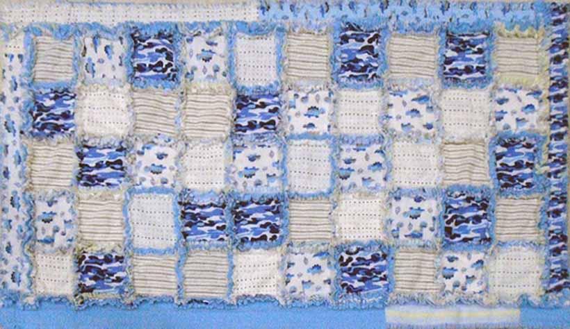 image of Flannel Receiving Blanket Nap Time Quilt DIY