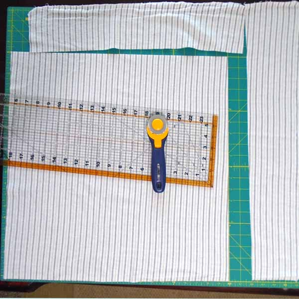 image of How to cut rag quilt borders from receiving blankets