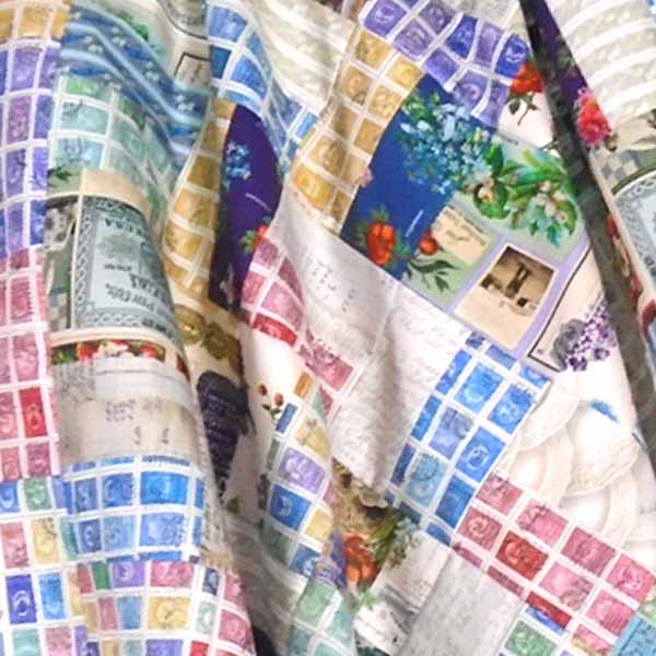 close up image of charm pack quilt pattern