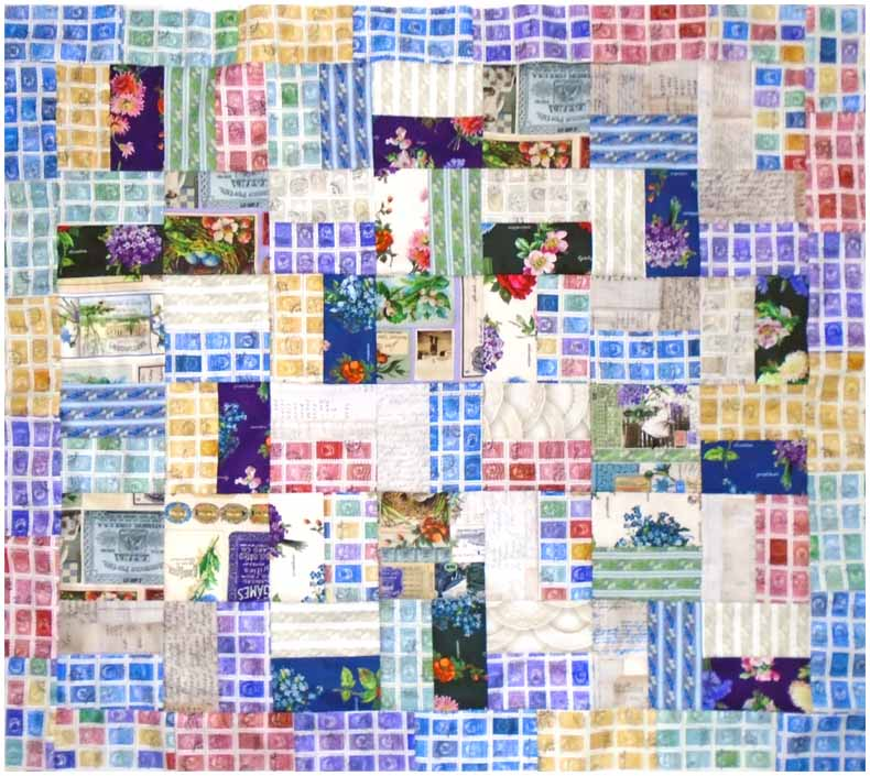 image of a charm pack baby quilt