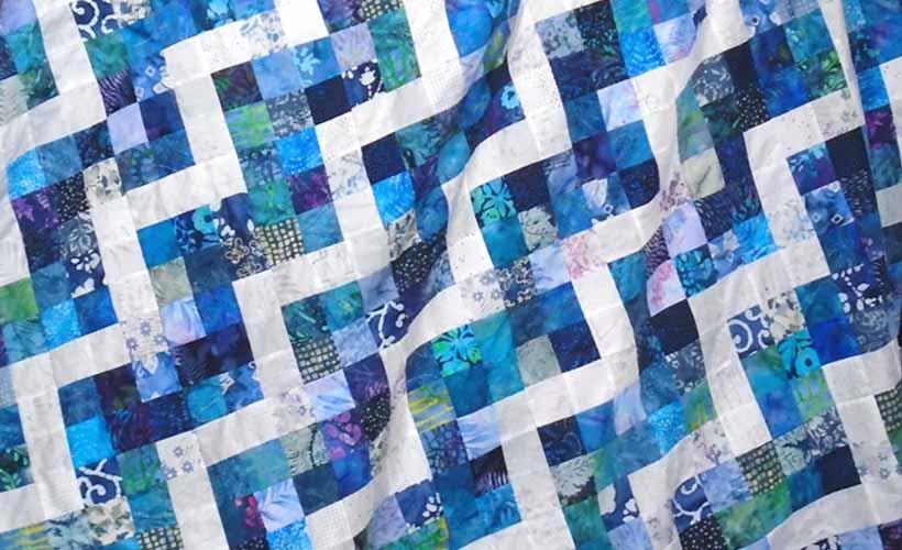 image of 9-patch batik quilt