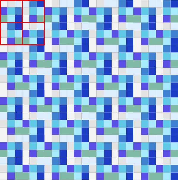 image of a 9-Patch Rail Fence Quilt Block Layout