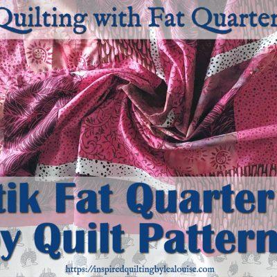 image of free quilt pattern for a batik fat quarter baby quilt