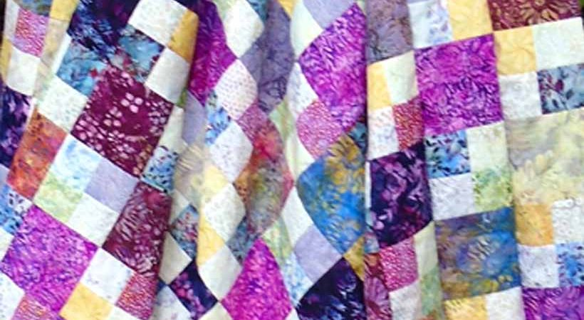 How to Make a Charm Square 4-Patch Quilt