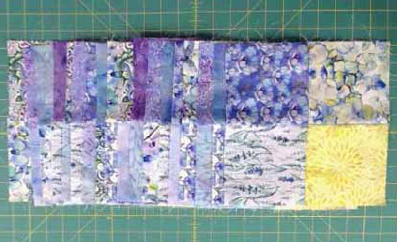image of charm square blocks for easy charm pack baby quilt