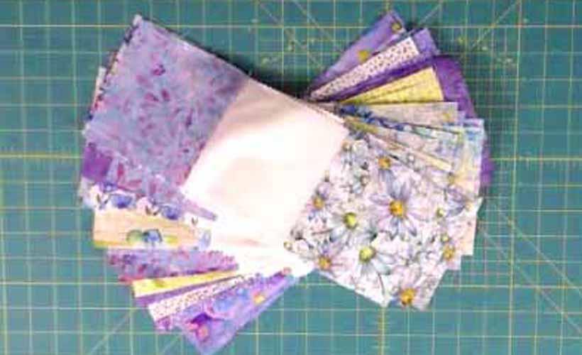Charm Square Quilt Fabric Strip Set